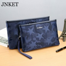 JNKET New Camouflage Men's Clutch Handbag Oxford Fabric Long Wallet Large Capacity Clutch Bag Detachable Wristlet(2 Sizes