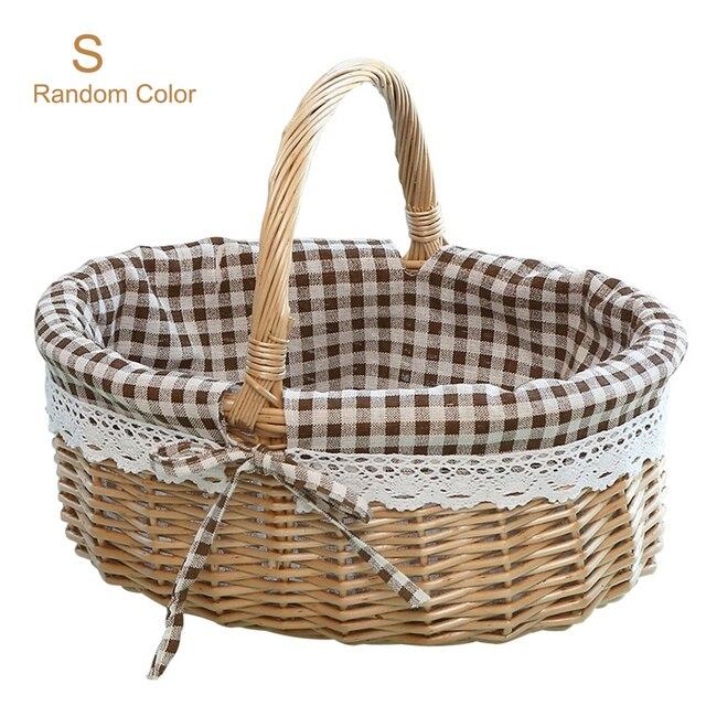 rattan ball wicker basketry earrings