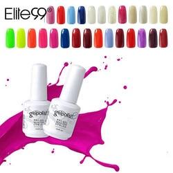 Elite99 15ml Gel UV esmalte de uñas oro brillo esmalte de uñas manicura Color puro Gel polaco para arte de uñas selección de esmalte 1 de 241