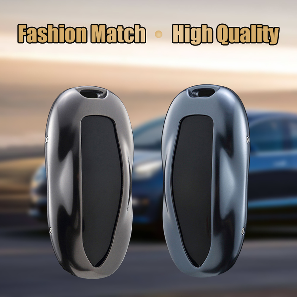 CNC Aluminum Metal Car Key Case Shell Cover or Leather Case For Tesla Model S
