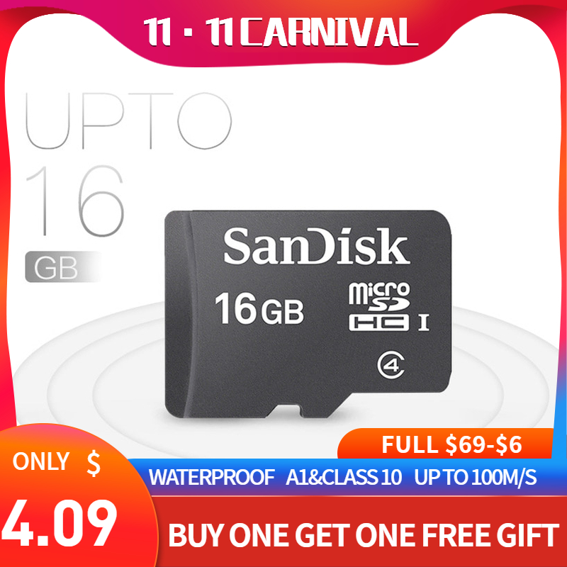 SanDisk micro sd 카드 8GB 16GB 클래스 4 tf 메모리 카드 sdxc 용 gopro hero 7 원래 dropshipping freeshipping
