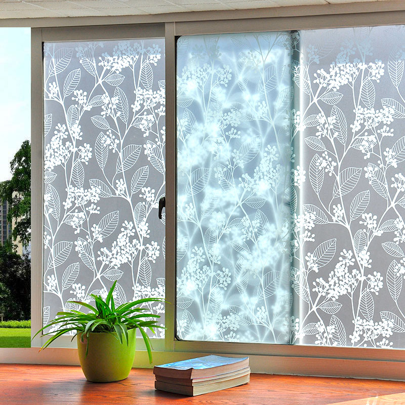 Matte Window Film Stained Glass Decorative Uv Window Sticker Privacy  Frosted Self Adhesive Film Window Decal for Glass 5