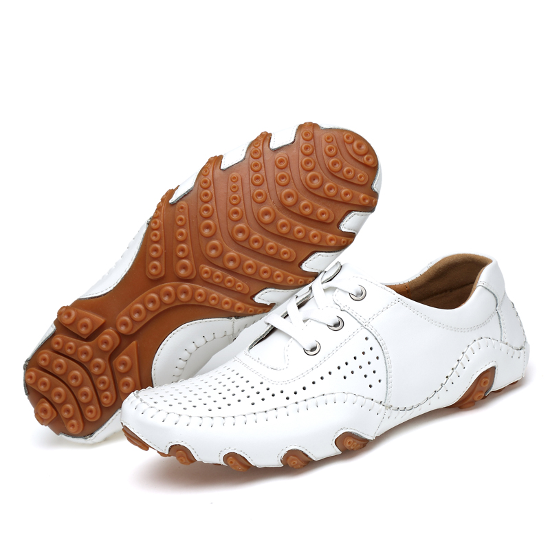 Men Leather Golf Shoes Spring Summer Comfortable Sport Training Sneakers For Golf Big Size 38-46 Mens Golf Sneakers Leather