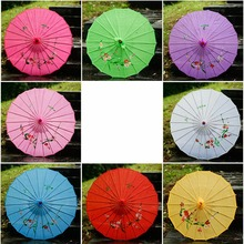 82cm Chinese ancient silk umbrella oil paper performance classical decorative craft