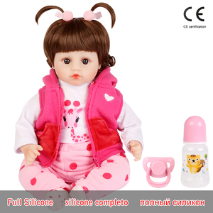 Image 1 - Realistic Reborn Doll 19 Inch Lifelike Handmade Soft silicone reborn toddler baby dolls Christmas surprise gifts lol toy