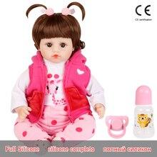 Realistyczne Reborn Doll 19 cali realistyczne ręcznie miękkiego silikonu reborn maluch baby lalki świąteczne niespodzianka prezenty lol zabawka