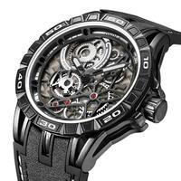 Top Brand Luxury Classic Men Watches 3D Gear Dial Quartz Watches Man Leather Strap Sport Wristwatch Relogio Masculino
