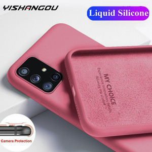 Soft Liquid Silicone Case For Samsung Galaxy A51 A71 A50 A70 S20 Ultra S10 Plus S10e Note 20 10 Lite S8 S9 Cover Coque