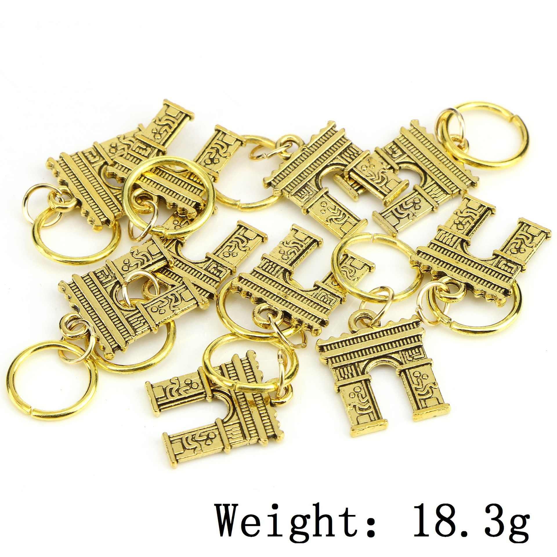 10 stks/pak Goud 14 styles Charms diy haar vlecht dread dreadlock kralen clips manchetten ringen Sieraden dreadlock haar accessoires