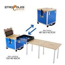 Переносной кухонный походный портативный складной стол с газовой