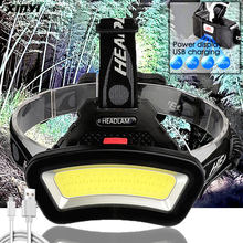 10000LM USB rechargeable LED Headlight 200m Long Lighting Distance Wide Angle COB Head Lamp Lantern For Hike Outdoor Use 2*18650