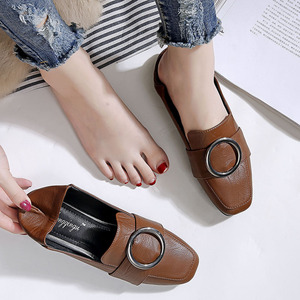 women shoes leather slip on lo