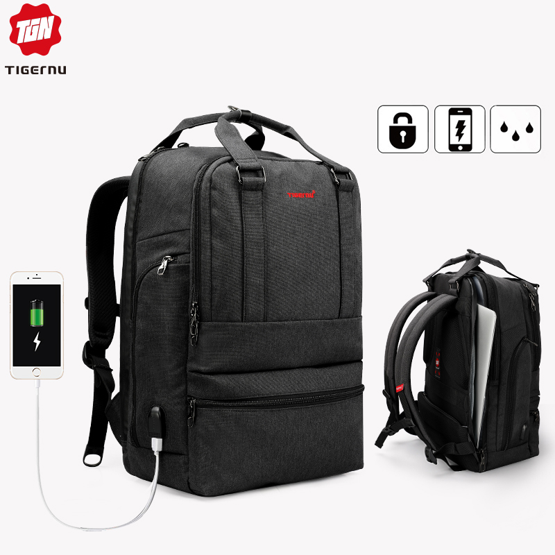 Tigernu Large Capacity 15.6inch Laptop Backpack USB Charger Computer Bag Backpacks For Men Women Business Casual Male Mochila