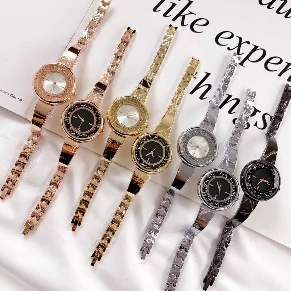 Original Fashion Luxury Girls Watch Stainless Steel Strap Quartz Watch Slim Watch Ladies Watch Gift Wholesale Free Shipping