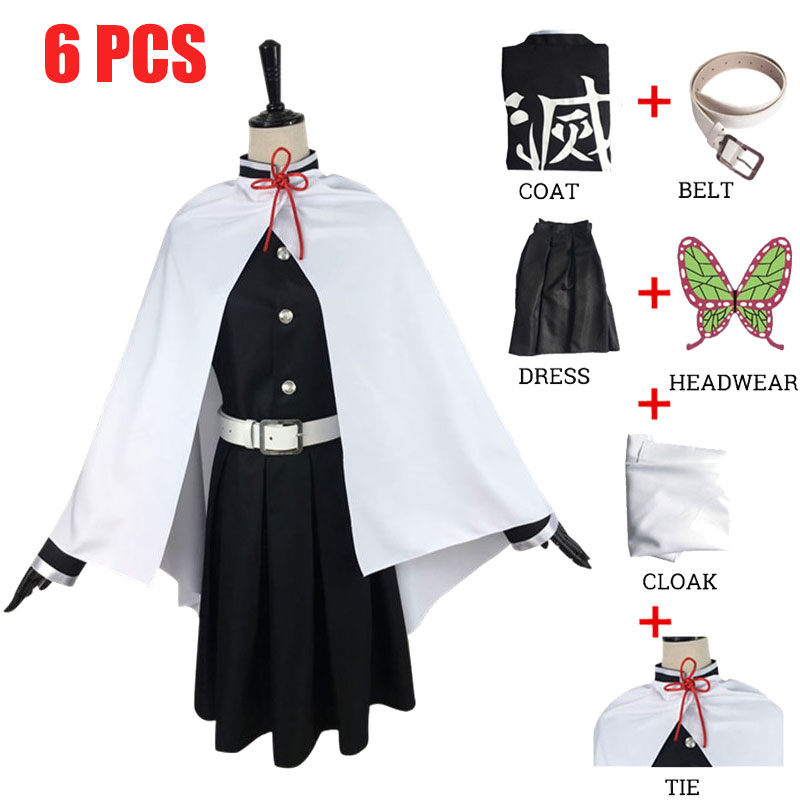 Костюм Tsuyuri Kanawo из аниме «рассекающий демонов», киметсу, костюм для боевой команды «no Yaiba», костюм для косплея на Хэллоуин, косплей, парики, ре...