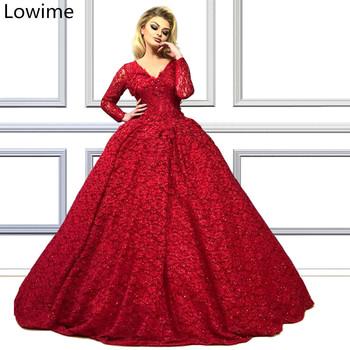 Dubaj czerwone kwiaty Celebrity suknie 2019 Plus rozmiar formalne suknie wieczorowe tureckie kobiety suknie na bal maturalny szata na imprezę De Soiree Vestidos tanie i dobre opinie Lowime V-neck Pełna Długość podłogi Poliester spandex -Line Celebrity sukienki Koronki vintage LWCD19 REGULAR Dubai Red Crapet Celebrity Dress
