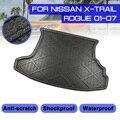 Для Nissan X-Trail Rogue 2001-2007 автомобиля задний багажник коврик Водонепроницаемый ковров Анти грязь лоток Коврики для багажника