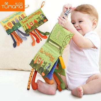 Tumama бебешки дрънкалки мобилни играчки играчки меки животински опашки плат книга новородено количка висяща играчка бебе ранно обучение образователни играчки