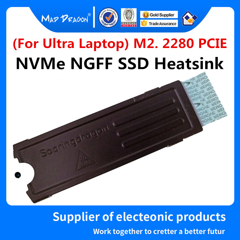 Solid State Drive Pure Copper Heatsink M2.0 2280 PCIE NVMe SSD FOR Dell XPS13 9343 9350 9360 XPS15 9550 9560 9570 7590 M5510
