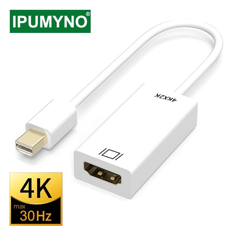 Мини-порт дисплея в HDMI-совместимый кабель 4k 1080P проектор для ТВ проектора DP 1,4 конвертер порта дисплея для Apple Macbook Air Pro