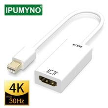 Mini displayport para hdmi-cabo compatível 4k 1080p tv projetor projetor dp 1.4 porta de exibição conversor para apple macbook ar pro
