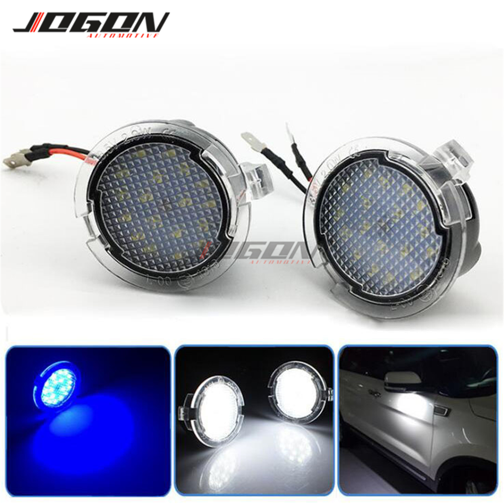 LED Side <font><b>Mirror</b></font> Puddle Light <font><b>For</b></font> <font><b>Ford</b></font> Mondeo Taurus Ranger F-150 Edge Fusion Flex <font><b>Explorer</b></font> Expedition Car <font><b>Accessories</b></font> image