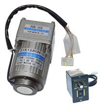 цена на AC15-3GN AC Gear Motor 110V/220V 15W 7.5/15/23/34/54/75/108/150/180/270/450Rpm AC Motor With 3GN Gearbox Gift Speed Controller
