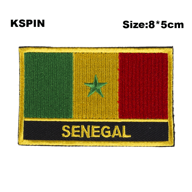 Keychain keyring embroidered embroidery patch double sided flag south vietnam