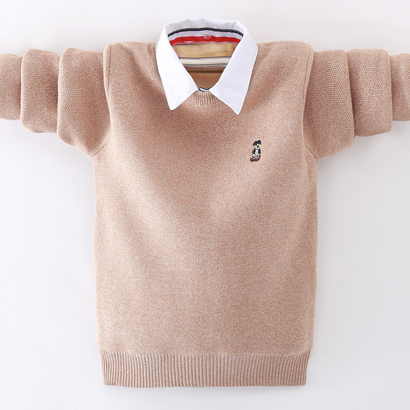 winter children's clothing Boy's clothes pullover Sweater Kids clothes Cotton products Keep warm Boy sweater Thicker 1