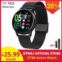 DTNO. Je DT N° 1 DT88 Montre Intelligente Ronde Écran Tactile Montre Intelligente Fréquence Cardiaque Intelligente de Traqueur De Forme Physique De Sport Montre De Mode VS Q8