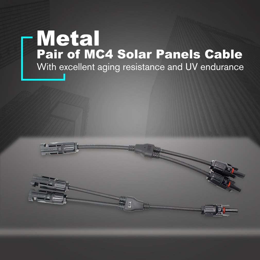 <font><b>MC4</b></font> Solar Panel <font><b>Cable</b></font> Connector <font><b>Adapter</b></font> Waterproof IP65 Solar Y Branch Connector for Photovoltaic Home Solar System Parallel image
