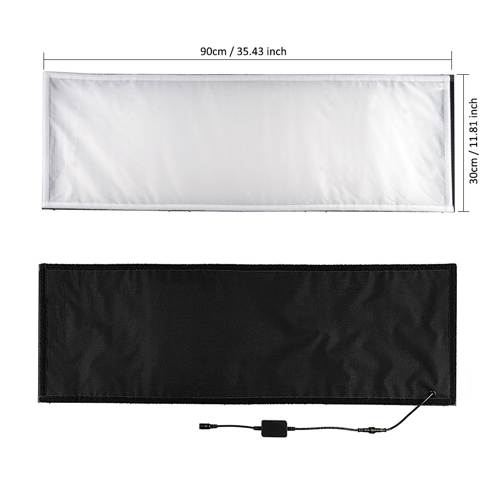 spash FL1x3 Studio Light Flexible Rollable Cloth LED Video Light Panel Lamp Remote Control Photo Light for Youtube Photography