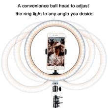 10inch/26cm Dimmbare LED Selfie Ring Lampe Fotografie Ring Licht mit Telefon Halter Stehen Für Make Up Video live Studio YouTube VK