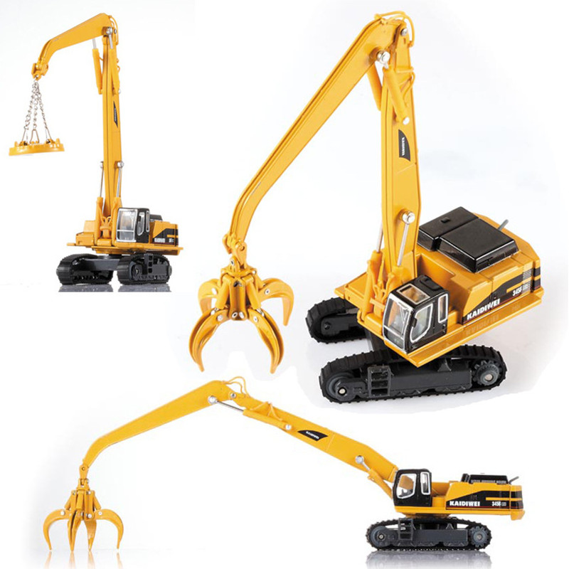 Exquisite 1:87 Engineering Material Handling Vehicle Model,simulation Diecasting Alloy Puzzle Gift,children's Toys,free Shippin