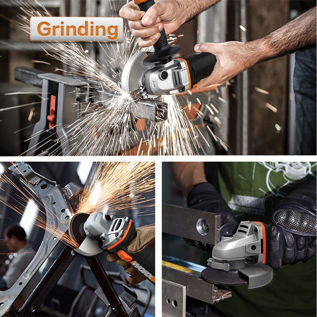 Worx 20V Mini Grinder WX800 115mm Cordless Angle-Grinder Electric Tools Grinding Machine Rechargerable 20V Powershare +Tool Case 2