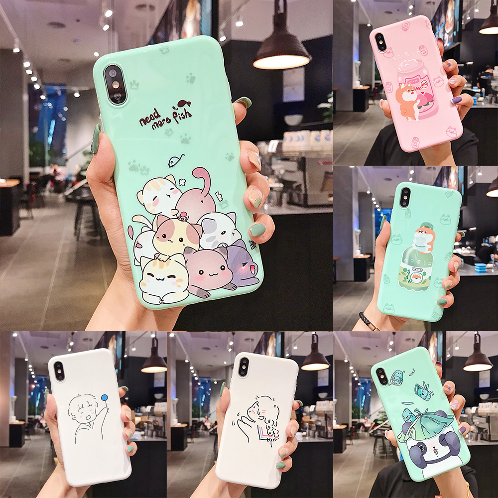 Cute Corgi Dog Cat Panda Soft Case for <font><b>OPPO</b></font> A3 A5 A3S A57 A39 A59 A73 A79 A7X A83 A9 F1S F5 F9 <font><b>F11</b></font> <font><b>Pro</b></font> Reno Cover <font><b>Phone</b></font> Case image