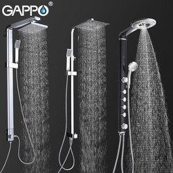 GAPPO Смесители для ванной и душа, ванна, Душевая система, настенный смеситель, смеситель для душа, набор для дождя, водопад, ABS панель, массаж