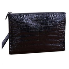 heimanba Crocodile skin handbag man  Bulk business documents  Clip zipper multi-clip Thai crocodile hand grip bag men clutch bag heimanba crocodile men handbag men small double zipper multi card youth luxury real leather thai crocodile handbag business bag