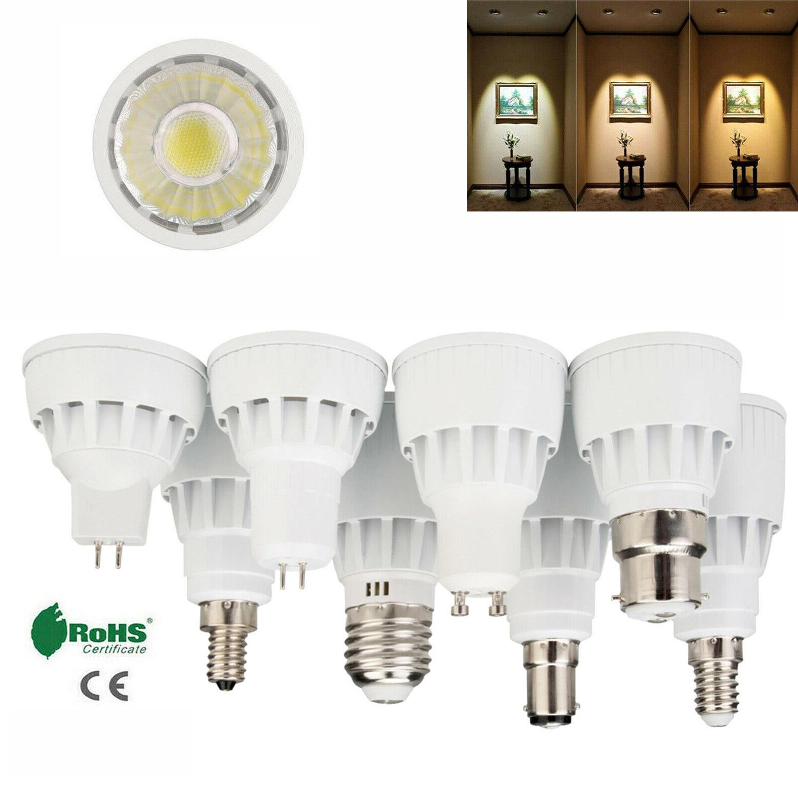 GU10 COB LED Spotlight 7W MR16 GU5.3 Bulbs Light White Warm White Lamp 220V