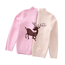 Childrens Sweater for Girls Autumn Toddler Kids Cartoon Christmas Deer Pullover Knitted Sweaters Little Winter Clothing