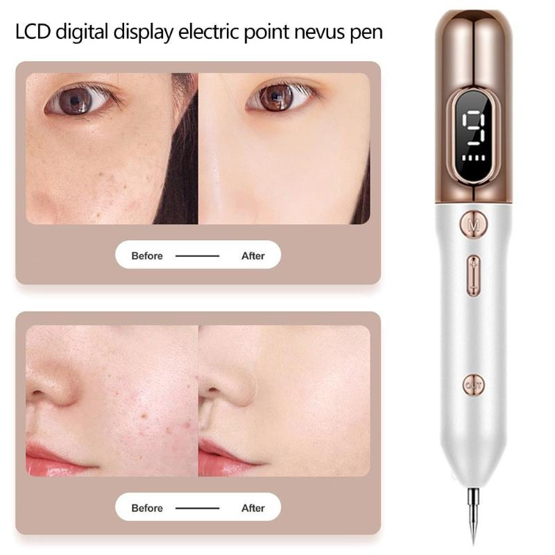 LCD Laser Plasma Pen Mole Removal Dark Spot Remover Skin Wart Tag Tattoo Removal Tool Skin Care Point Pen Beauty Care