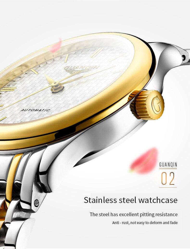 luxo relógio mecânico grid dial senhoras relógios
