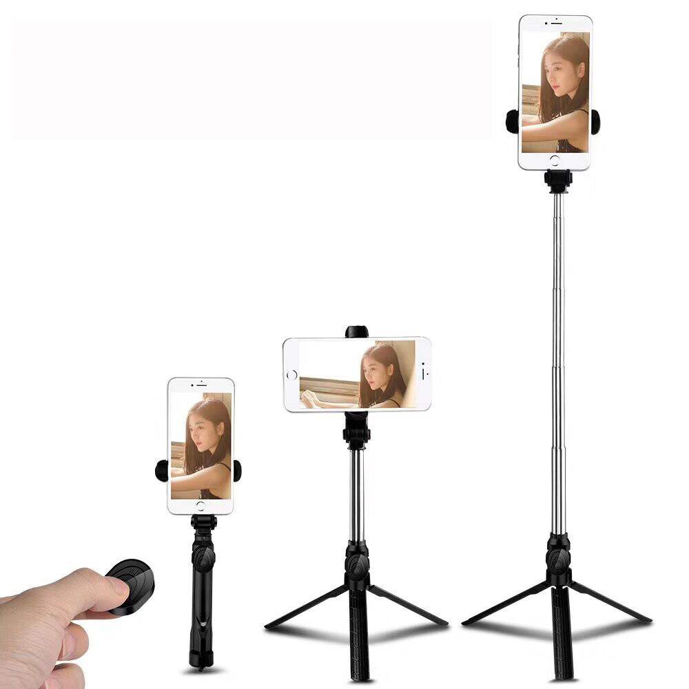 Tripod Selfie Stick Mobile Phone Vertical And Horizontal Video Stick Selfie Stick Mini Bluetooth Handheld Folding Phone Clip