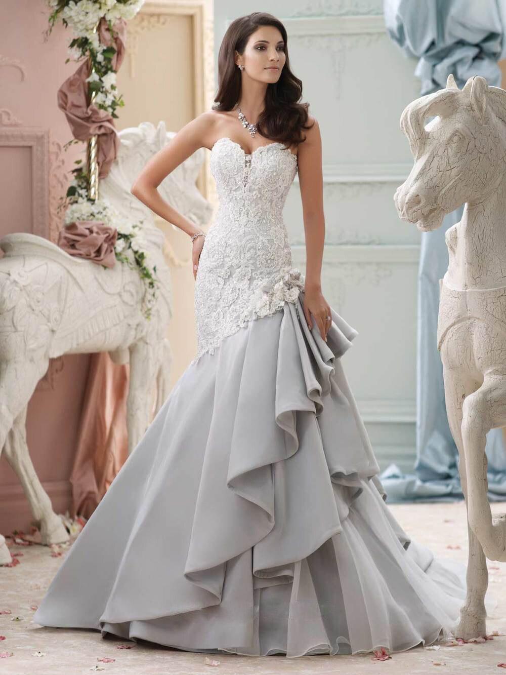 Trouwjurk Wholesale Ruffled Mermaid Luxury Custom Made Plus Size Vintage Satin Lace Appliqued Wedding Dresses Brautkleid JAN01