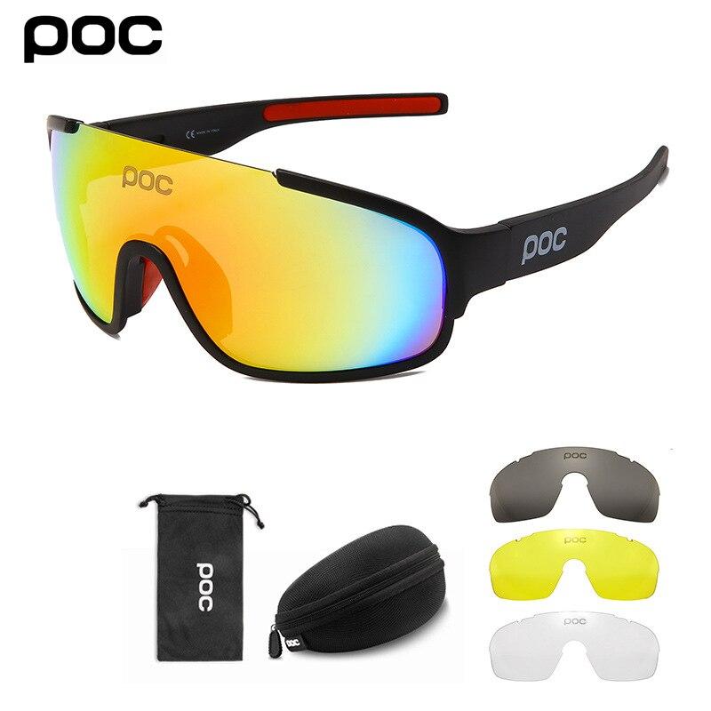 POC Crave-gafas de sol para ciclismo para hombre y mujer, lentes polarizadas para deportes al aire libre, para bicicleta de montaña y carretera, 4 lentes