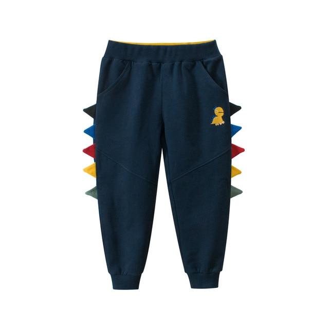 27kids Autumn Sport Boys Pants Dinasour Embroidery Girls Trousers 2-9Year Children Pants winter Sweatpants 4