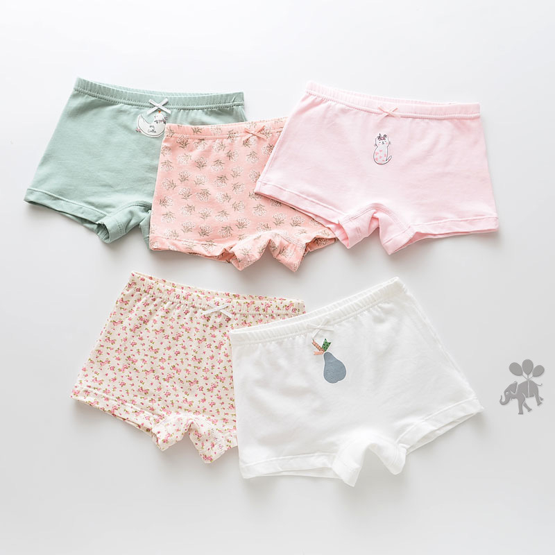 5 Pcs/lot Children Underwears Boy Underpants Girls Panties Briefs Cotton Panty Boy's Kids Child Girl For Baby Cartoon Teenagers