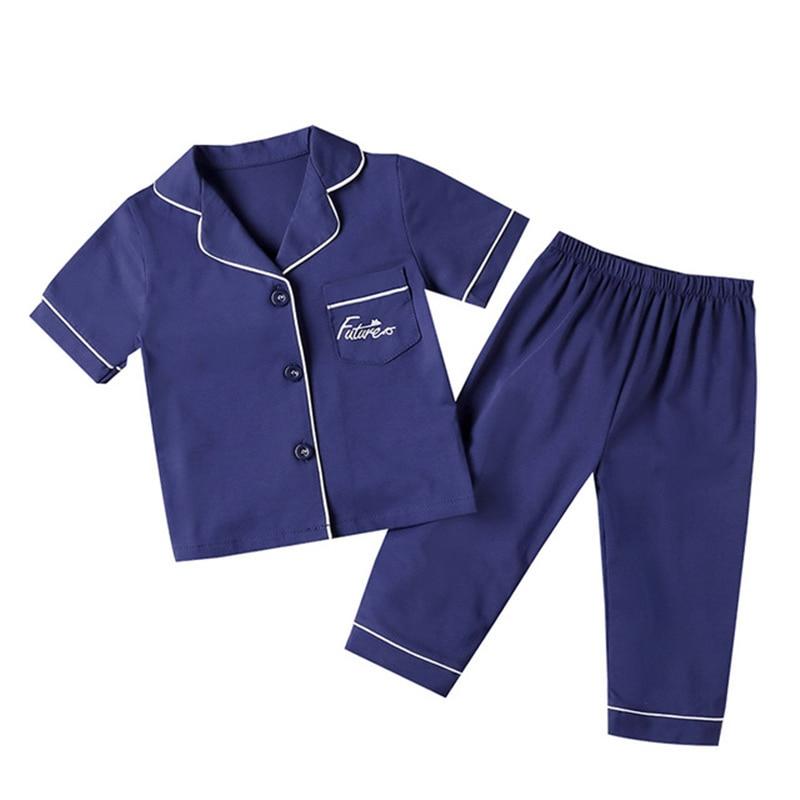 SAILEROAD Children's Pajamas For Girls Pyjamas Short Top+Long Pants Kids Pijama Infantil Boys Sleepwear Child Home Wear Clothes 3