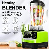 220V 1300W 2L Auto Electric Heating Blender Adjustable Speed Food Mixer Juicer Kitchen Food Processor Ice Crusher Smoothie Maker