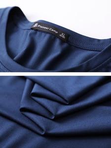 Image 5 - Pioneer Camp New 2020 Dragonfly printed T Shirt Men Full Sleeve Dark Blue White Black Color Spring Summer tshirt